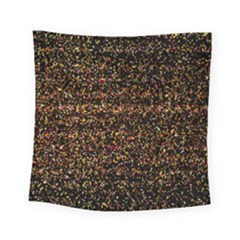 Colorful And Glowing Pixelated Pattern Square Tapestry (small)