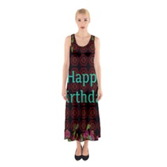 Happy Birthday To You! Sleeveless Maxi Dress