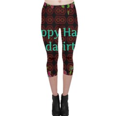 Happy Birthday To You! Capri Leggings