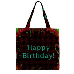 Happy Birthday To You! Zipper Grocery Tote Bag