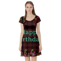 Happy Birthday To You! Short Sleeve Skater Dress