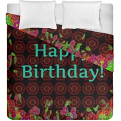 Happy Birthday To You! Duvet Cover Double Side (king Size)