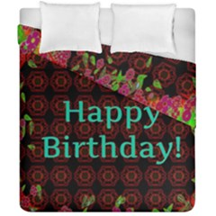 Happy Birthday To You! Duvet Cover Double Side (california King Size)