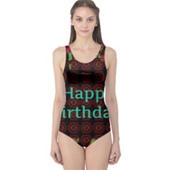 Happy Birthday To You! One Piece Swimsuit