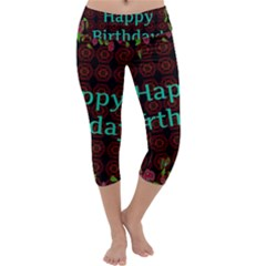 Happy Birthday To You! Capri Yoga Leggings