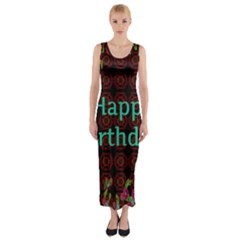 Happy Birthday To You! Fitted Maxi Dress