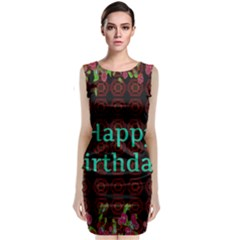 Happy Birthday To You! Classic Sleeveless Midi Dress