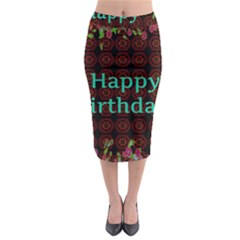 Happy Birthday To You! Midi Pencil Skirt