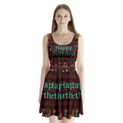 Happy Birthday To You! Split Back Mini Dress