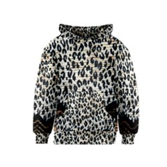Tiger Background Fabric Animal Motifs Kids  Pullover Hoodie