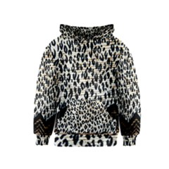 Tiger Background Fabric Animal Motifs Kids  Zipper Hoodie