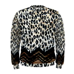 Tiger Background Fabric Animal Motifs Men s Sweatshirt
