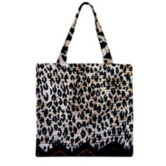 Tiger Background Fabric Animal Motifs Zipper Grocery Tote Bag