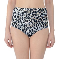 Tiger Background Fabric Animal Motifs High Waist Bikini Bottoms