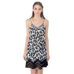 Tiger Background Fabric Animal Motifs Camis Nightgown