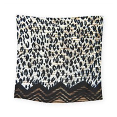 Tiger Background Fabric Animal Motifs Square Tapestry (small)
