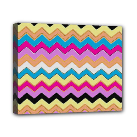 Chevrons Pattern Art Background Canvas 10  X 8