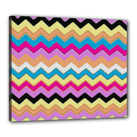 Chevrons Pattern Art Background Canvas 24  X 20