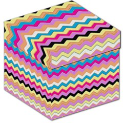 Chevrons Pattern Art Background Storage Stool 12