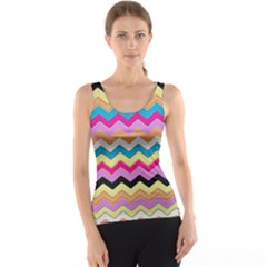 Chevrons Pattern Art Background Tank Top