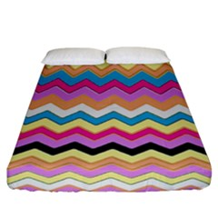 Chevrons Pattern Art Background Fitted Sheet (california King Size)