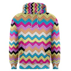 Chevrons Pattern Art Background Men s Pullover Hoodie