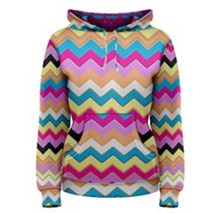 Chevrons Pattern Art Background Women s Pullover Hoodie