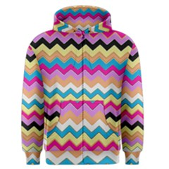 Chevrons Pattern Art Background Men s Zipper Hoodie