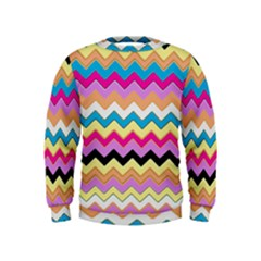 Chevrons Pattern Art Background Kids  Sweatshirt
