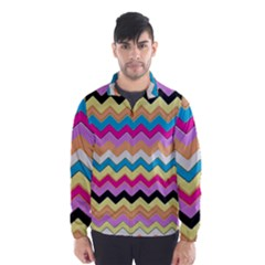Chevrons Pattern Art Background Wind Breaker (men)