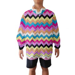 Chevrons Pattern Art Background Wind Breaker (Kids)