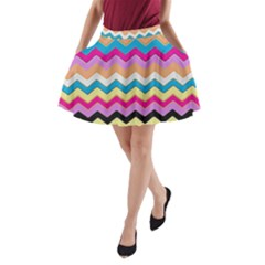 Chevrons Pattern Art Background A Line Pocket Skirt