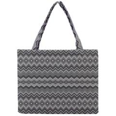 Greyscale Zig Zag Mini Tote Bag