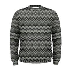 Greyscale Zig Zag Men s Sweatshirt