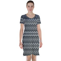 Greyscale Zig Zag Short Sleeve Nightdress