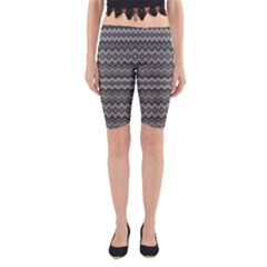 Greyscale Zig Zag Yoga Cropped Leggings