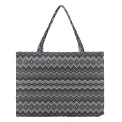Greyscale Zig Zag Medium Tote Bag