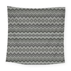 Greyscale Zig Zag Square Tapestry (large)