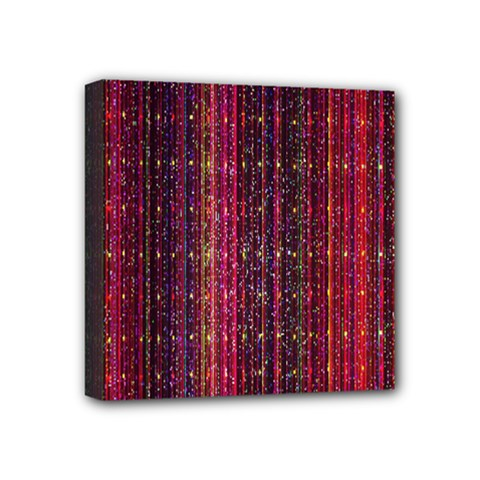Colorful And Glowing Pixelated Pixel Pattern Mini Canvas 4  X 4
