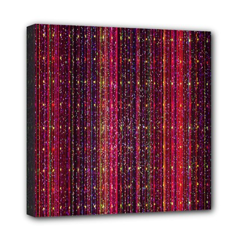 Colorful And Glowing Pixelated Pixel Pattern Mini Canvas 8  X 8