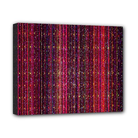 Colorful And Glowing Pixelated Pixel Pattern Canvas 10  X 8