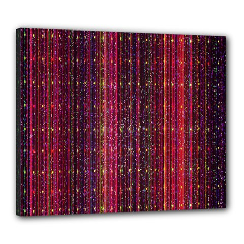 Colorful And Glowing Pixelated Pixel Pattern Canvas 24  X 20