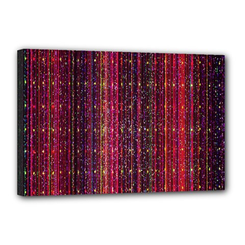 Colorful And Glowing Pixelated Pixel Pattern Canvas 18  X 12