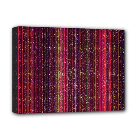 Colorful And Glowing Pixelated Pixel Pattern Deluxe Canvas 16  X 12