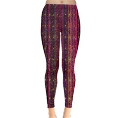 Colorful And Glowing Pixelated Pixel Pattern Leggings