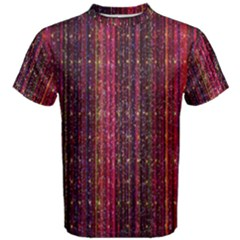 Colorful And Glowing Pixelated Pixel Pattern Men s Cotton Tee