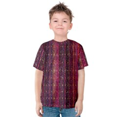 Colorful And Glowing Pixelated Pixel Pattern Kids  Cotton Tee