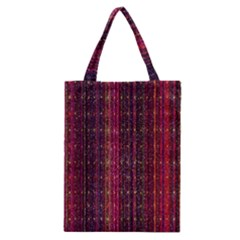 Colorful And Glowing Pixelated Pixel Pattern Classic Tote Bag