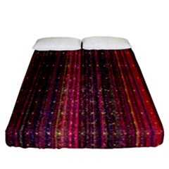 Colorful And Glowing Pixelated Pixel Pattern Fitted Sheet (california King Size)