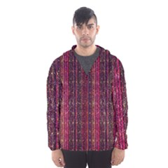 Colorful And Glowing Pixelated Pixel Pattern Hooded Wind Breaker (men)